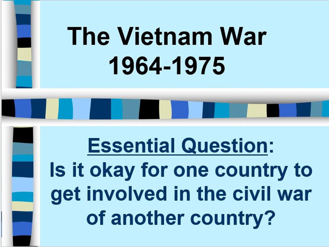 Vietnam War Stations Lesson