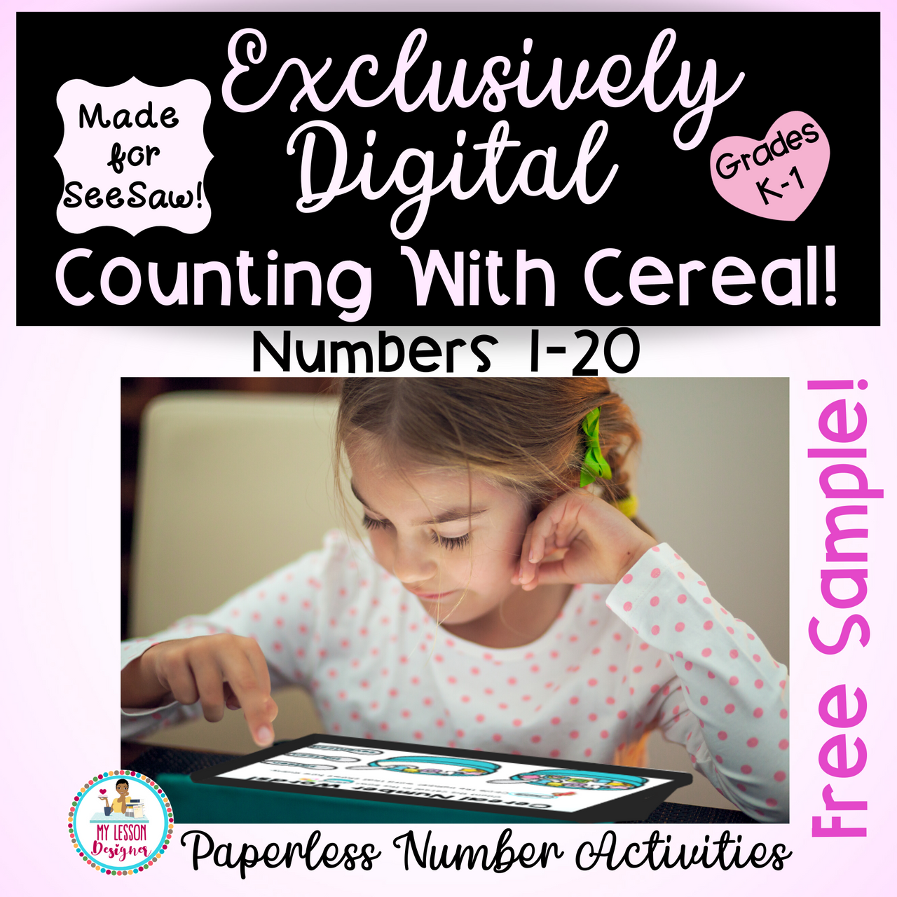 FREEBIE Exclusively Digital SeeSaw Counting With Cereal-Distance Learning