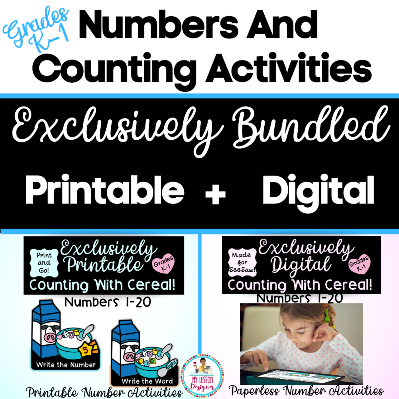 Exclusively Bundled-SeeSaw Counting With Cereal | Distance Learning