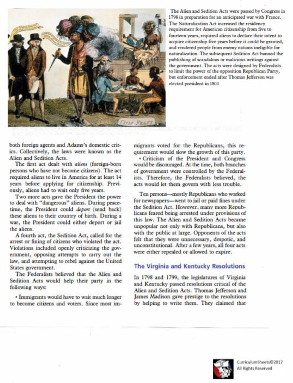 John Adams and the Federalists