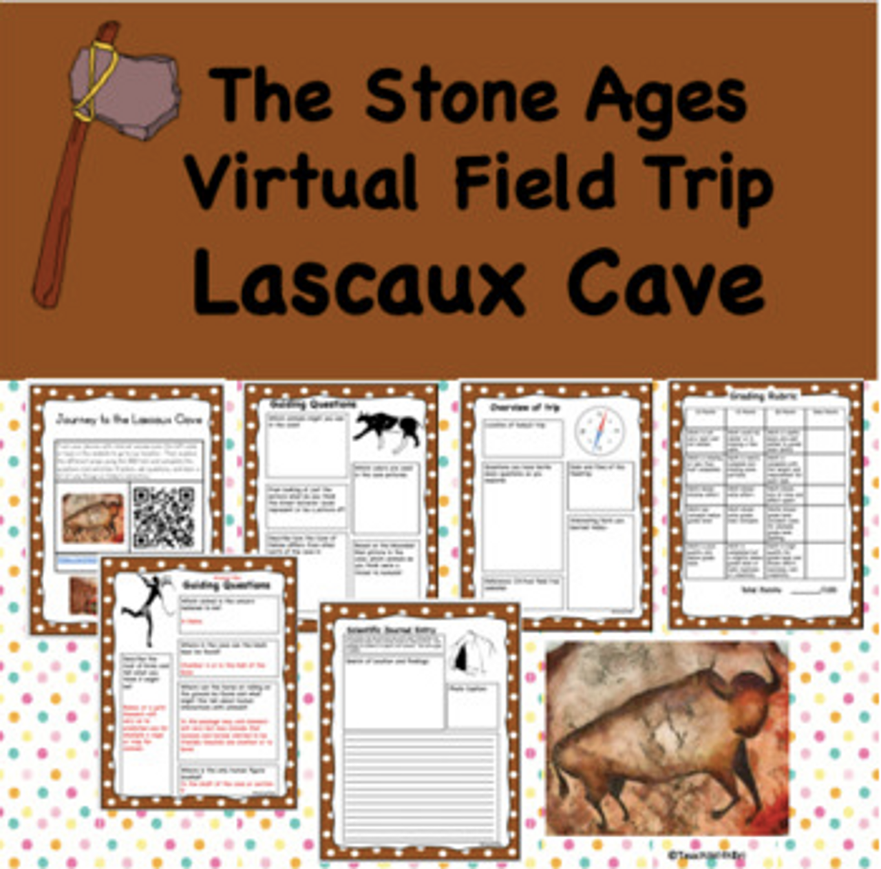 Virtual Field Trip to Lascaux Cave- Stone Ages- Student Activities