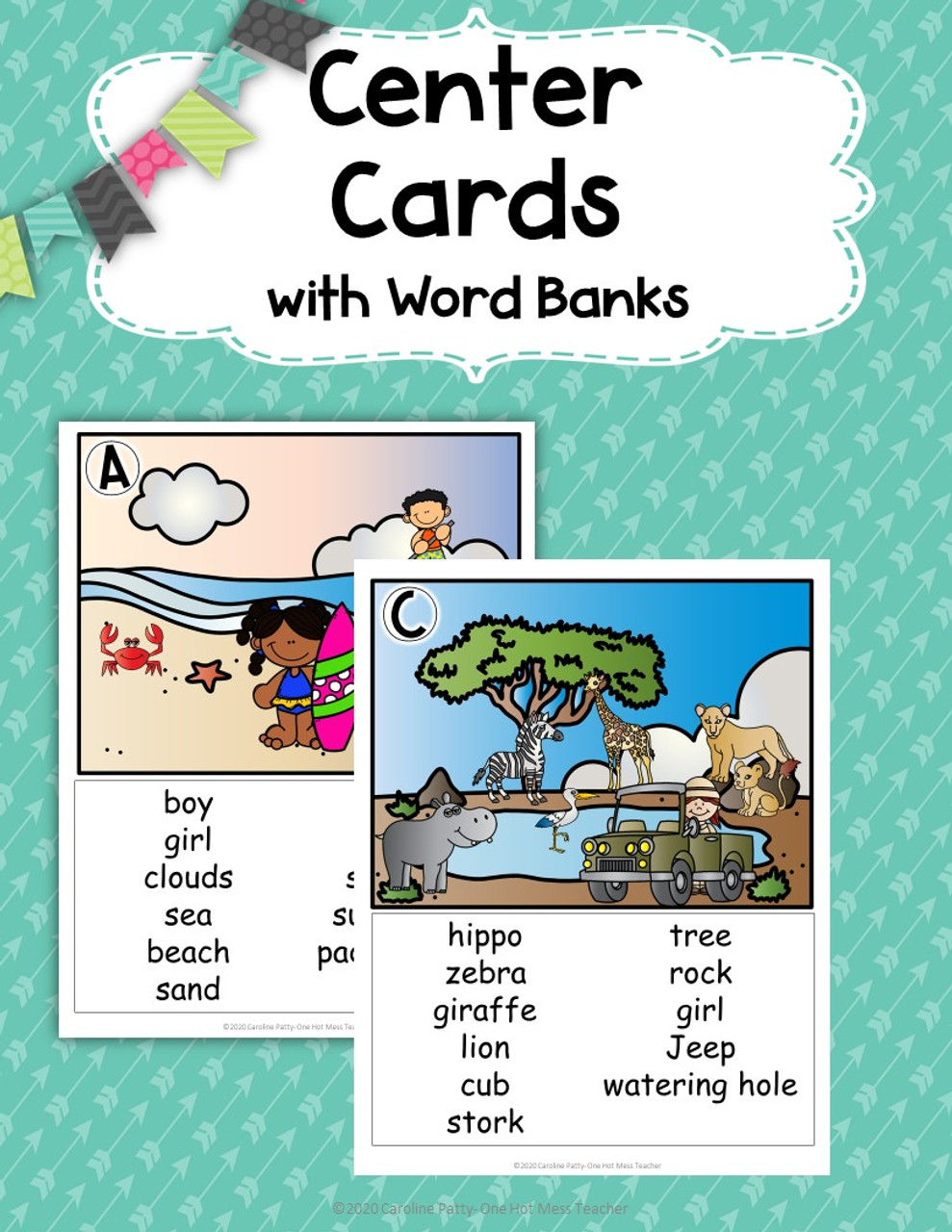 K-2 Writing Center with Picture Cards