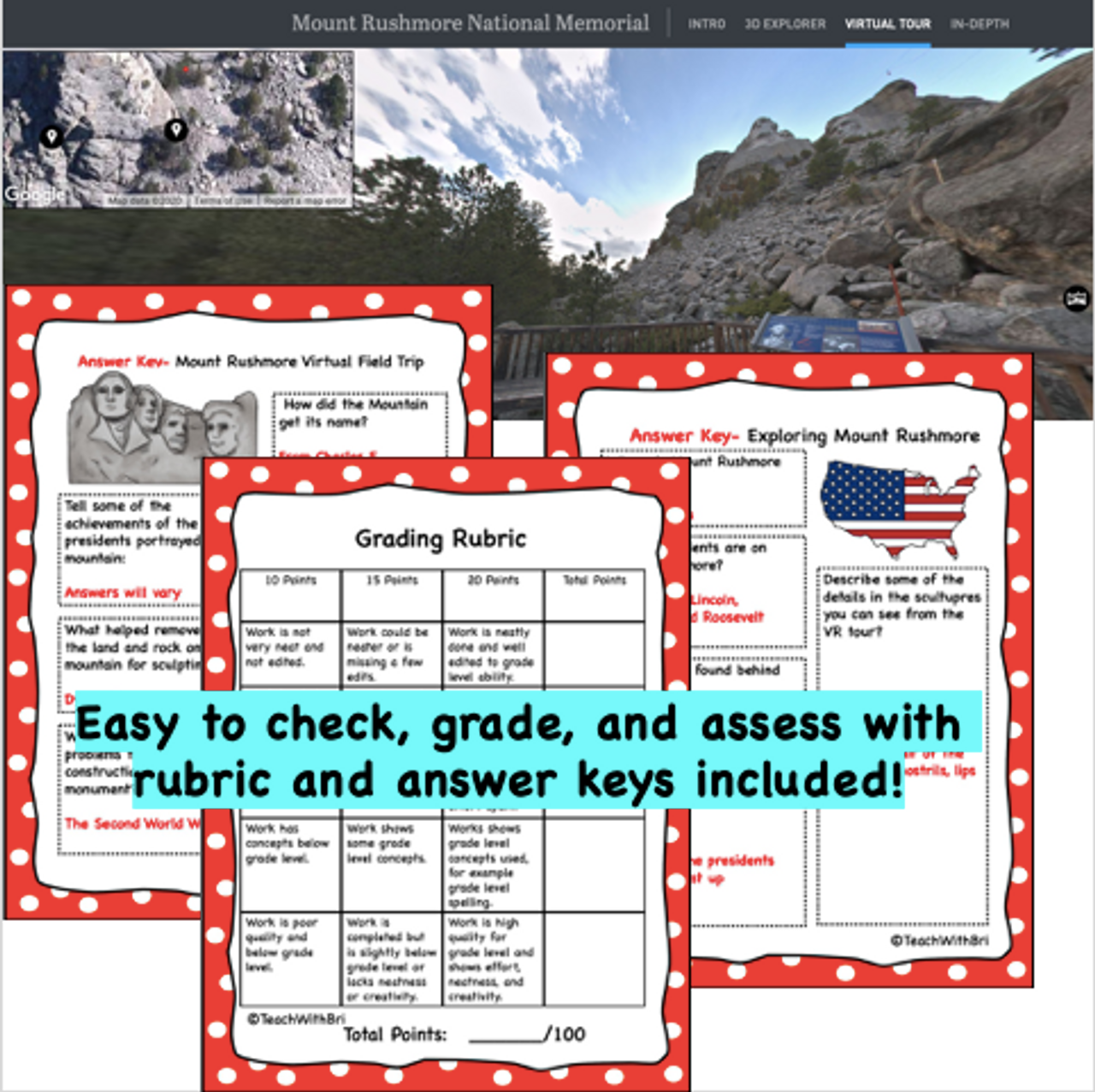 Mount Rushmore Virtual Field Trip - Student Activities