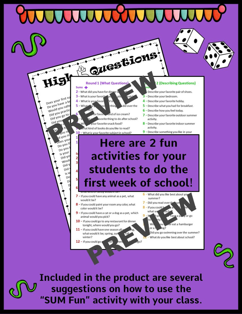 Back to School - Get to Know You Activities - 2nd and 3rd Grade