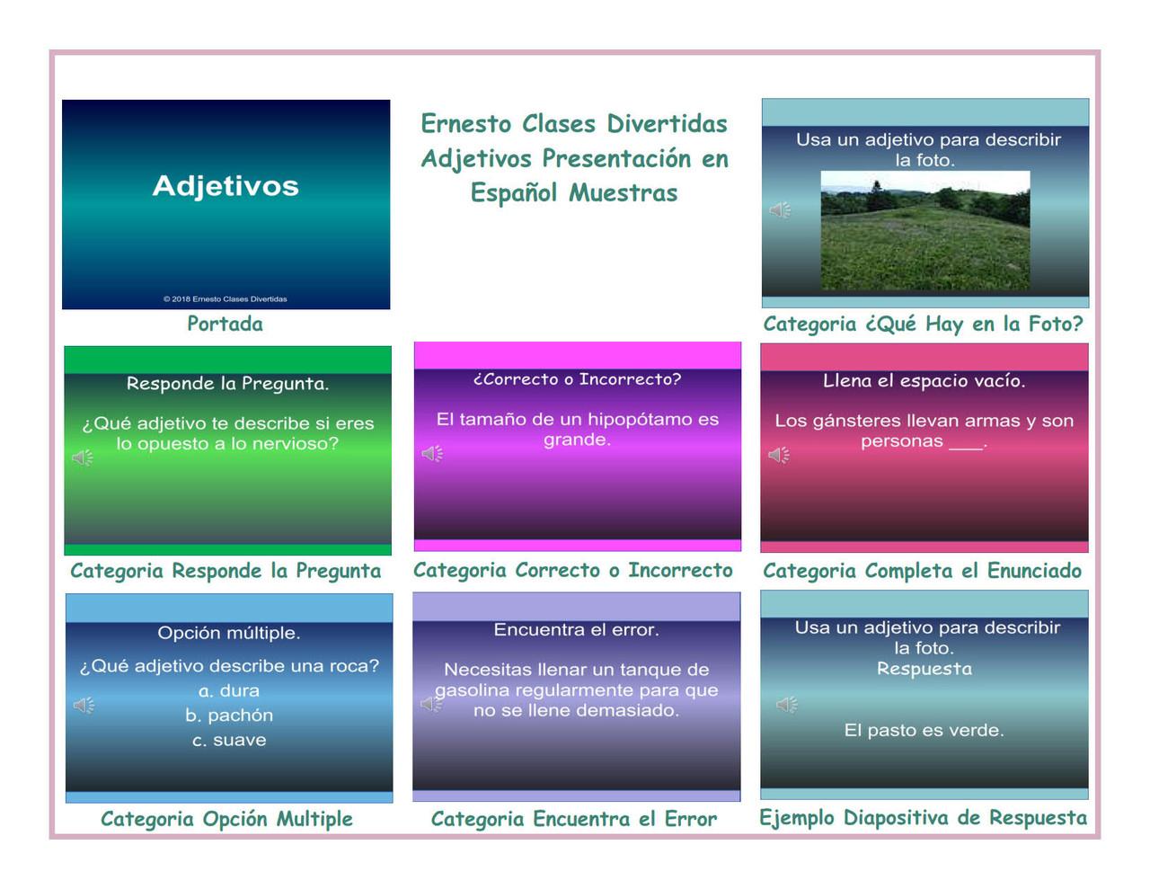 Adjectives Spanish PowerPoint Presentation