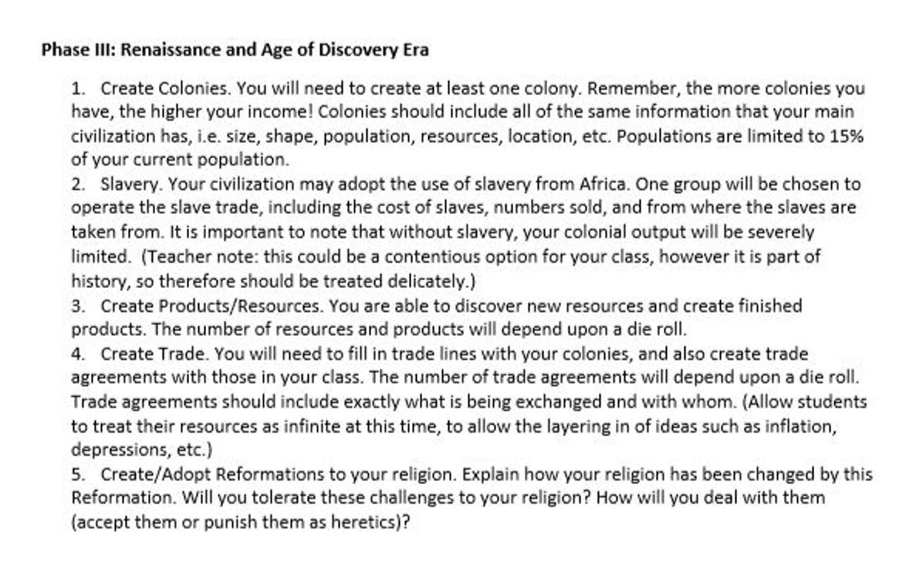 World History Civilization Project
