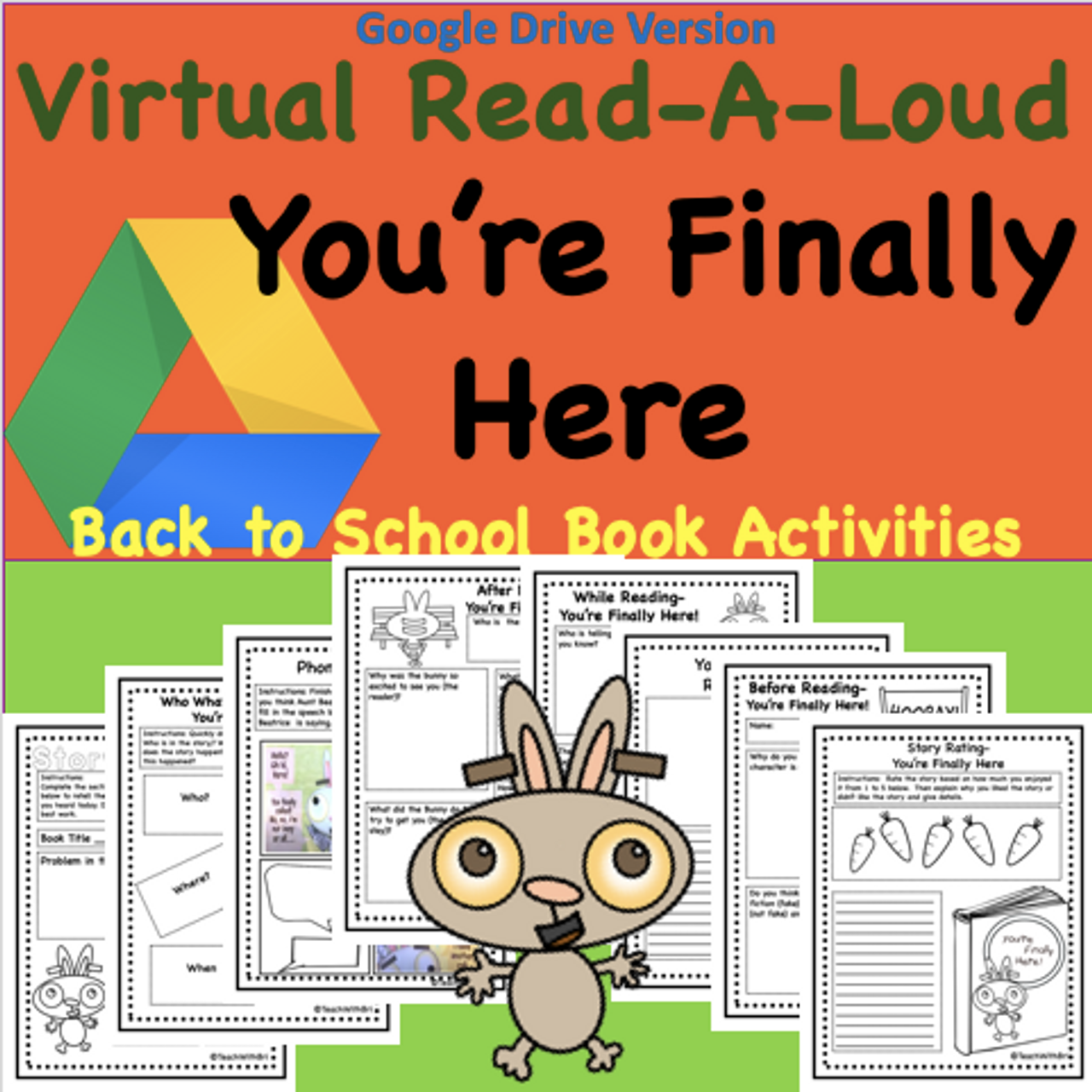 Digital Version - Virtual Read-A-Loud- You're Finally Here- Student Reading Activities for Beginning of School Year