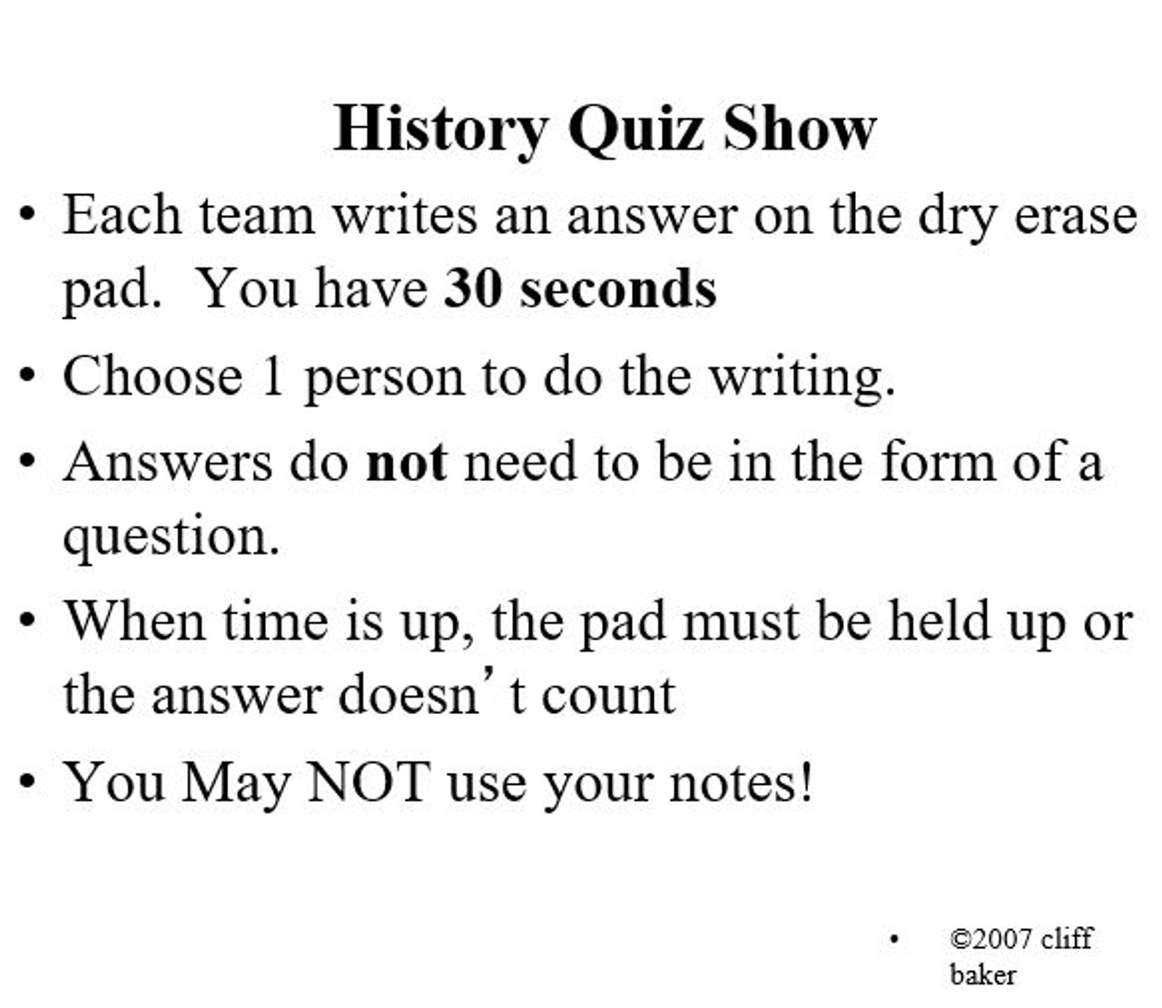 13 Colonies Quiz Show PowerPoint