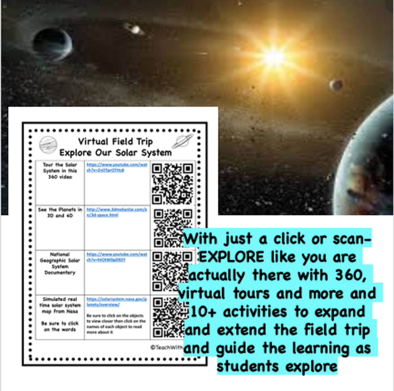 Virtual Field Trip to Solar System - Activities for Middle and High Schoolers
