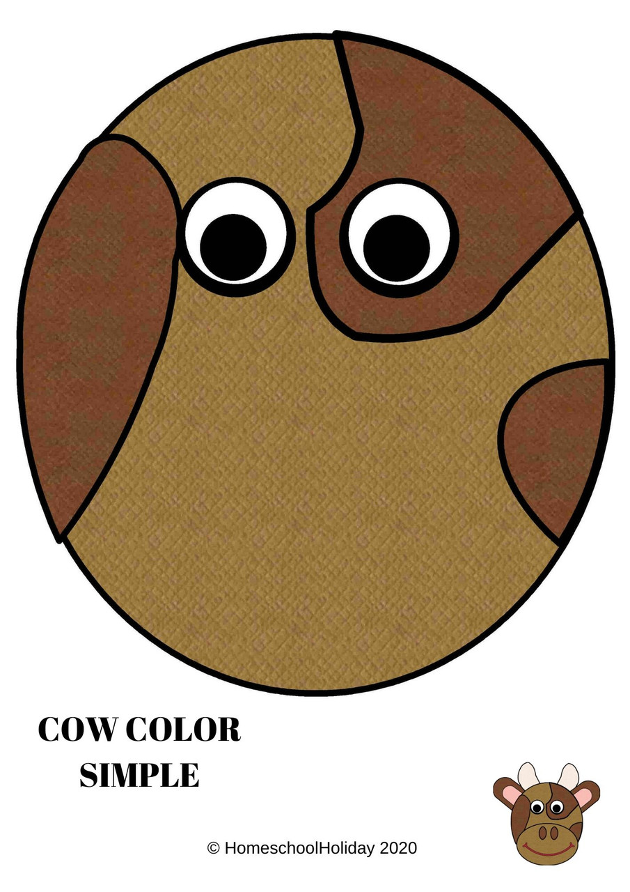 Cow Paper Plate Animal Craft Paper & DIGITAL version! - Cow Appreciation Day July 15th
