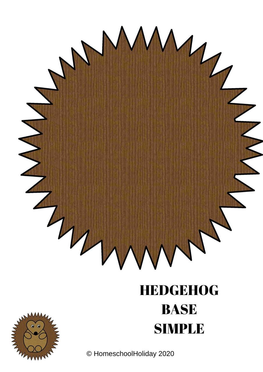 Hedgehog Paper Plate Animal Craft Paper & DIGITAL version!- National Hedgehog Day, February 2