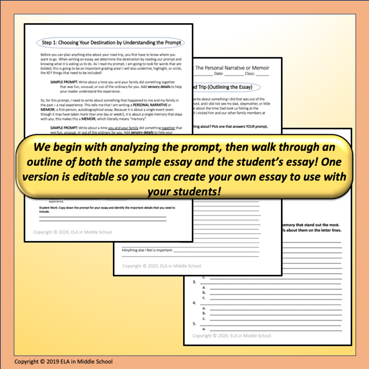 Mapping Essays with Templates: The Personal Narrative or Memoir Digital Resource Remote Ready Resource