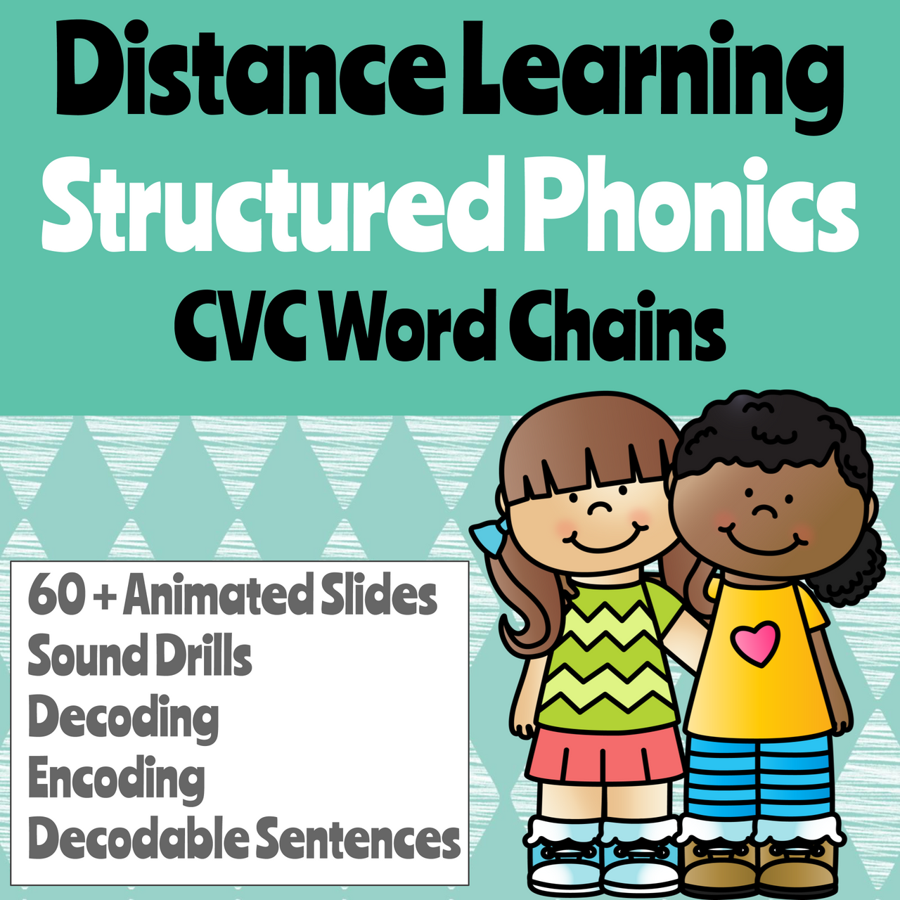 Distance Learning CVC Words Google Slides (Remote Ready Resource)