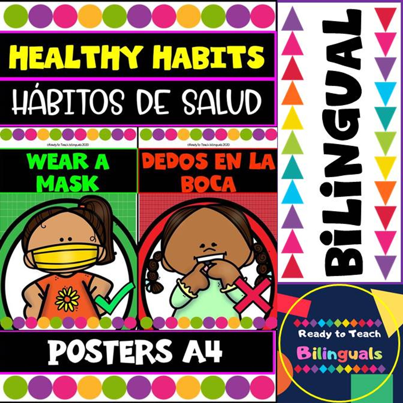 Healthy Habits (Hábitos de Salud) Posters