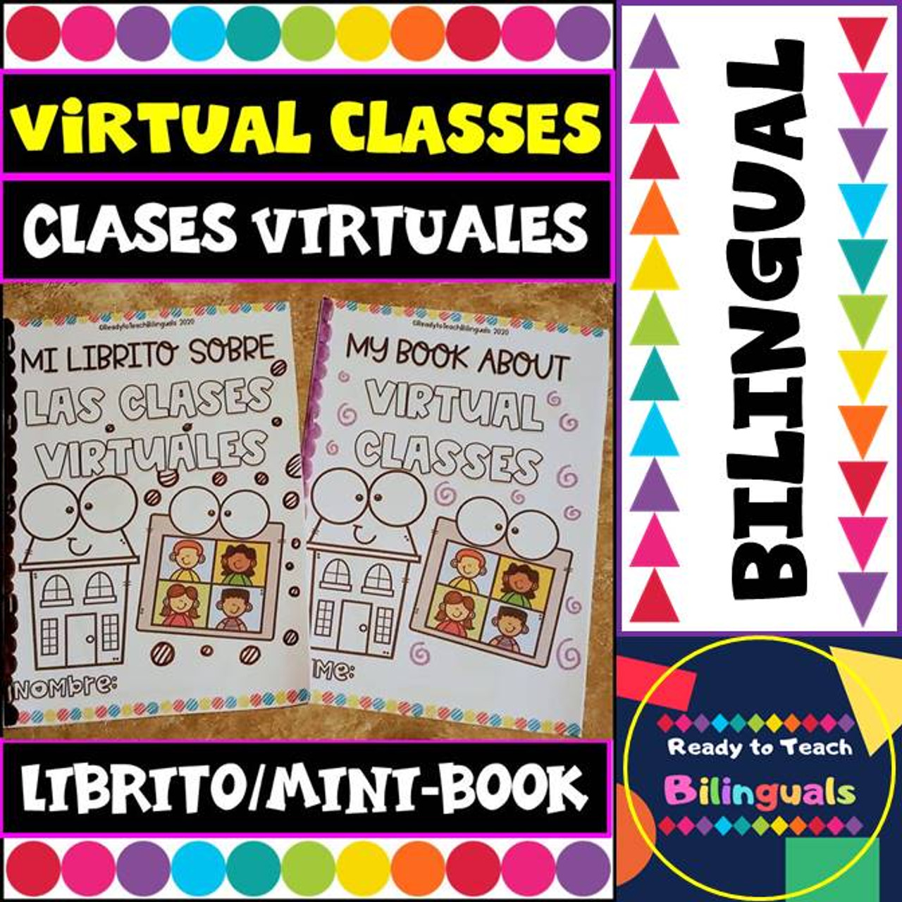 Virtual classes Booklet - Clases Virtuales - Distance Learning - Bilingual Set