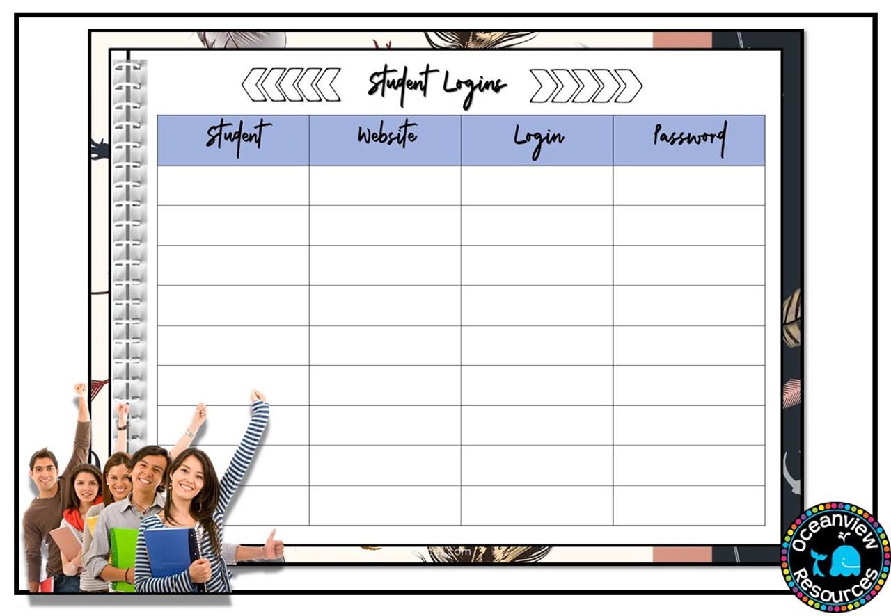 Daybook Planner for Teachers-BOHO DESIGN