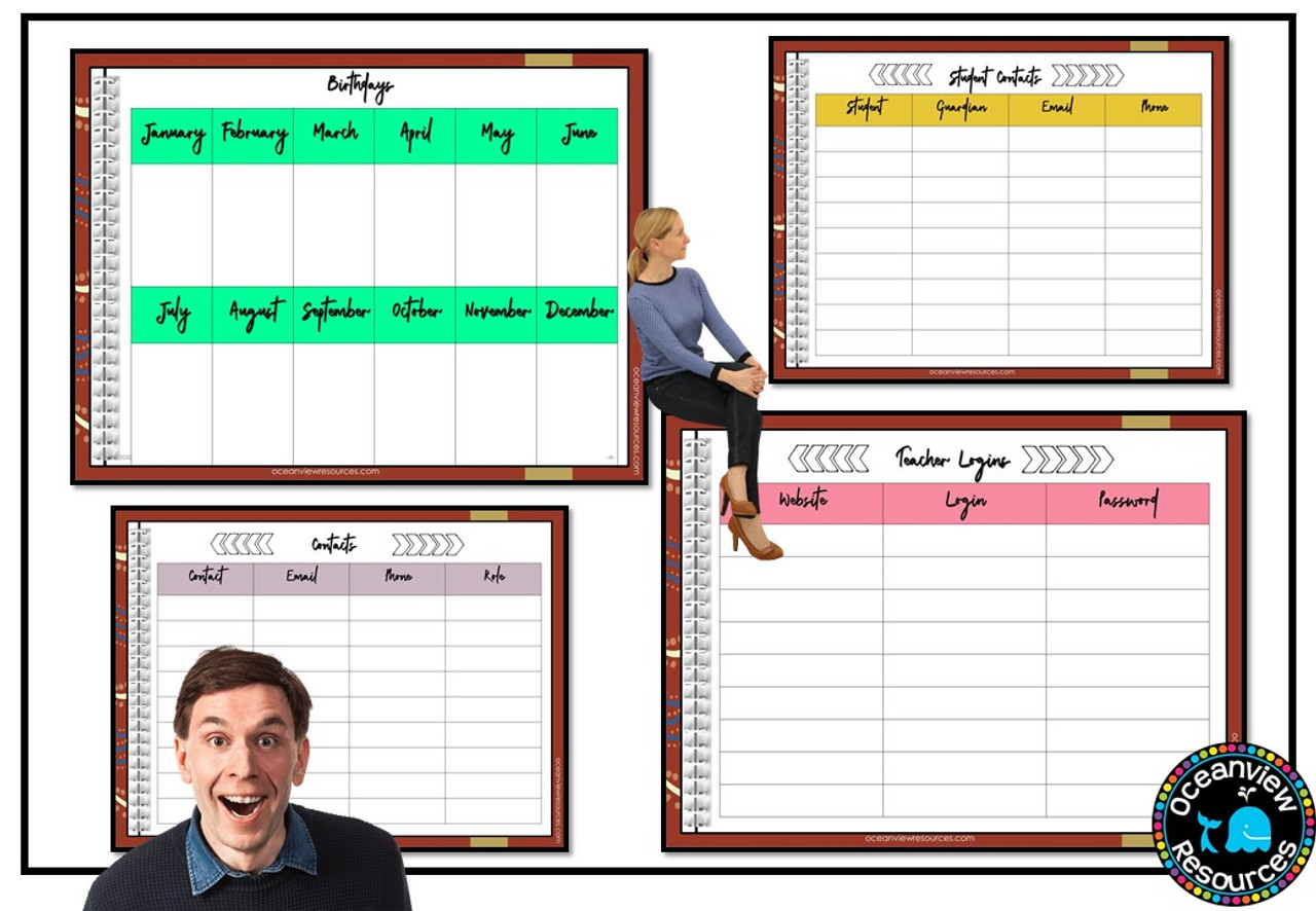 Daybook Planner for Teachers-OCHRE DESIGN