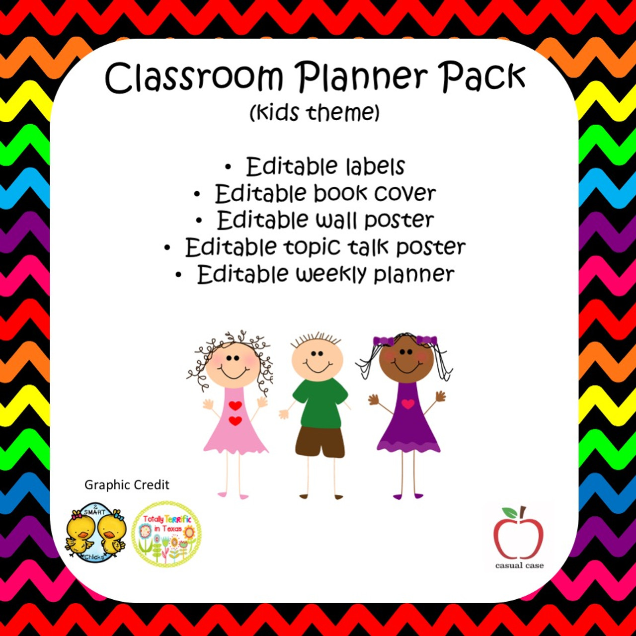Classroom Planner Package - Cute Kids Theme