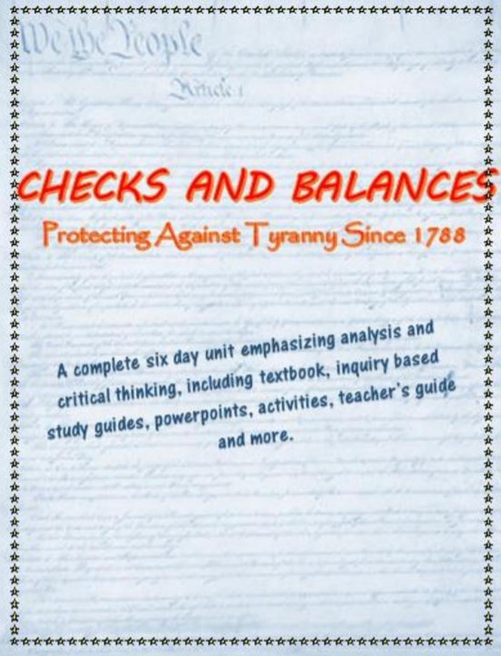Checks and Balances complete unit, including text