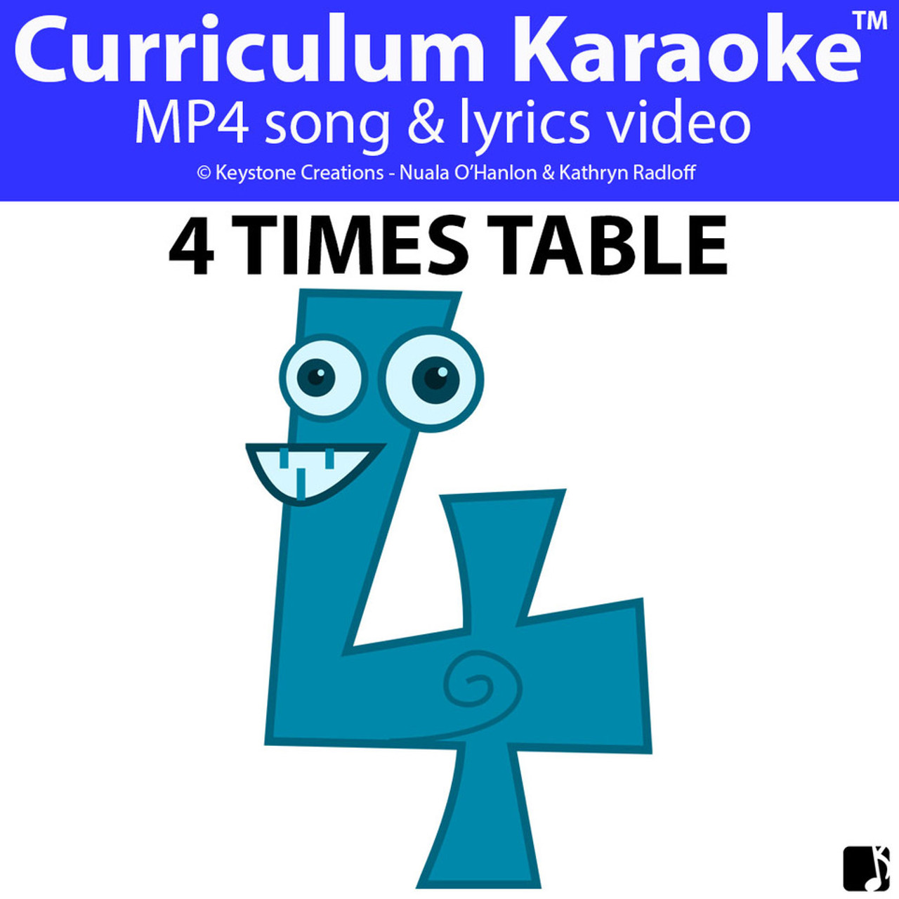 '4 TIMES TABLE' ~ Curriculum Song Video