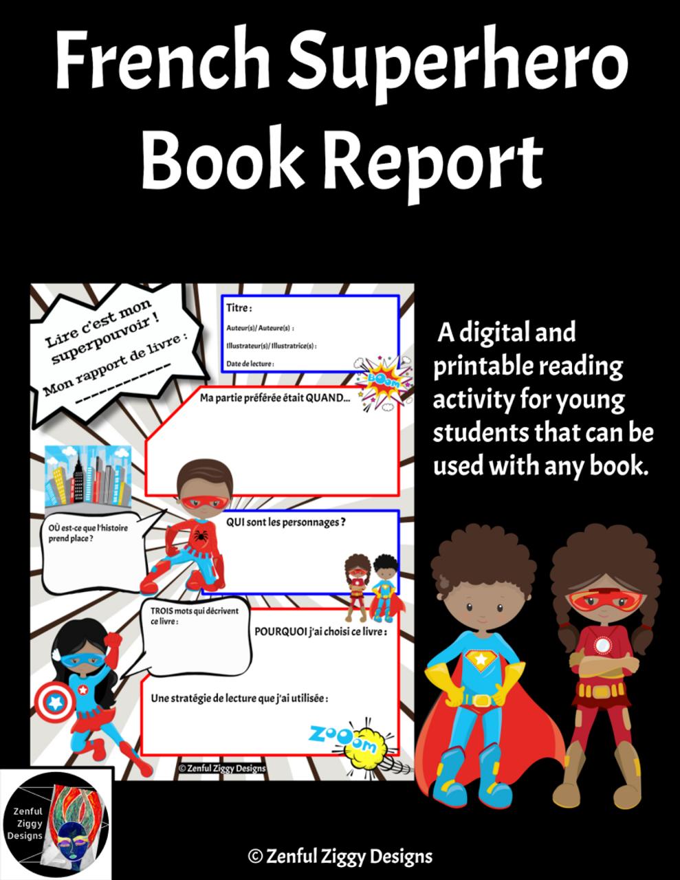 French Superhero Book Report 2