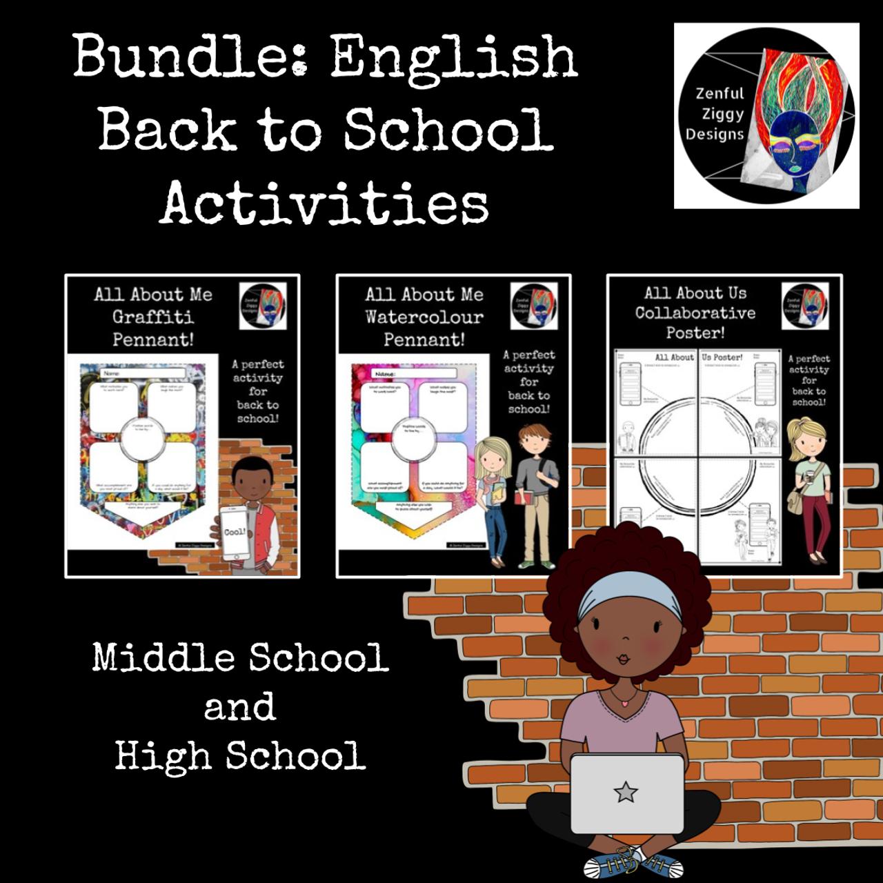 Bundle: English Back to School Activities