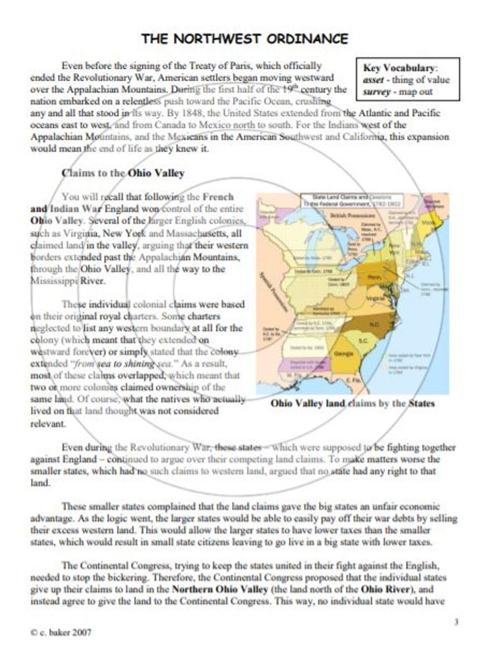 Westward Ho! - Expansion of the Continental U.S. unit bundle, including text