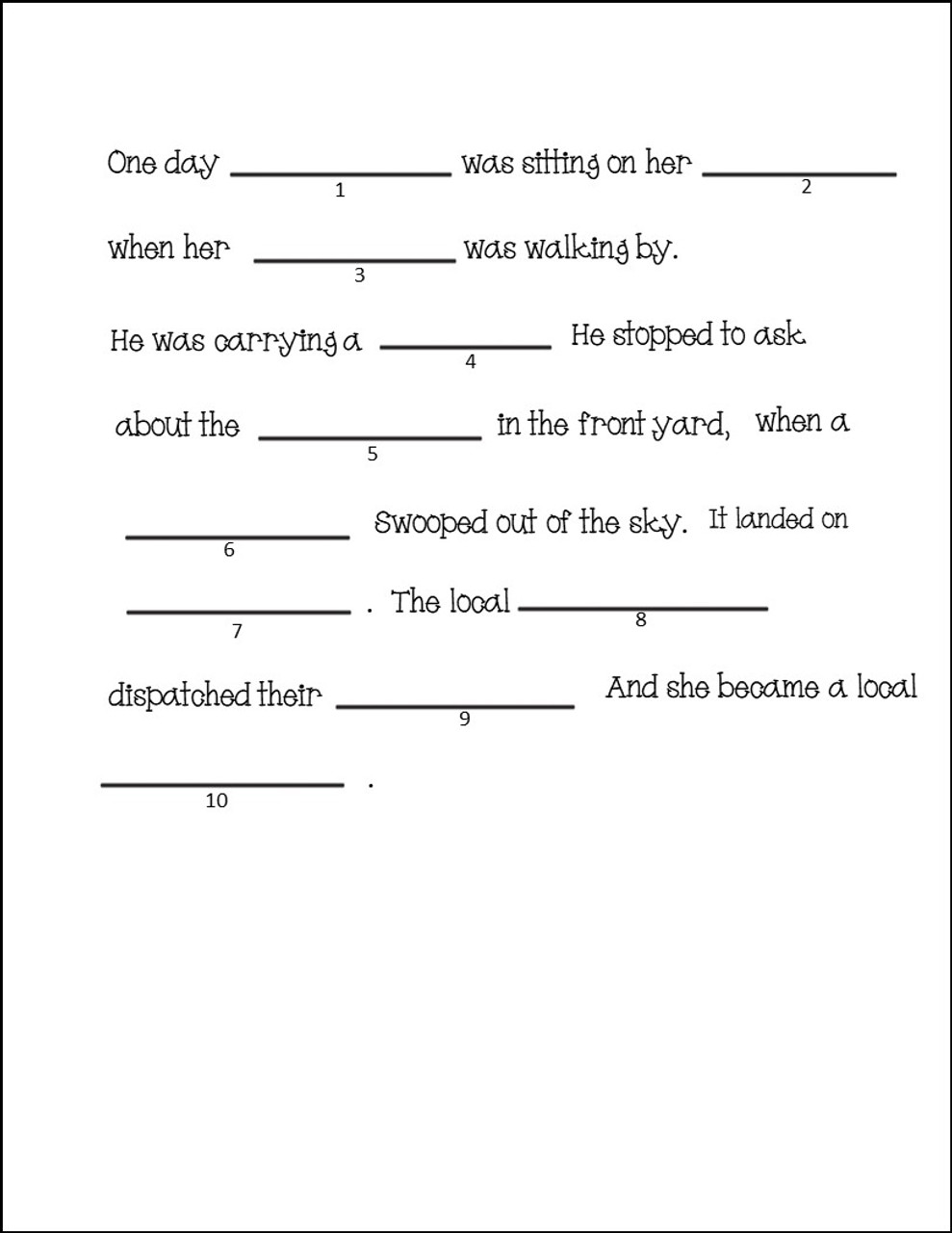 Order of Operations Silly Sentences Activity