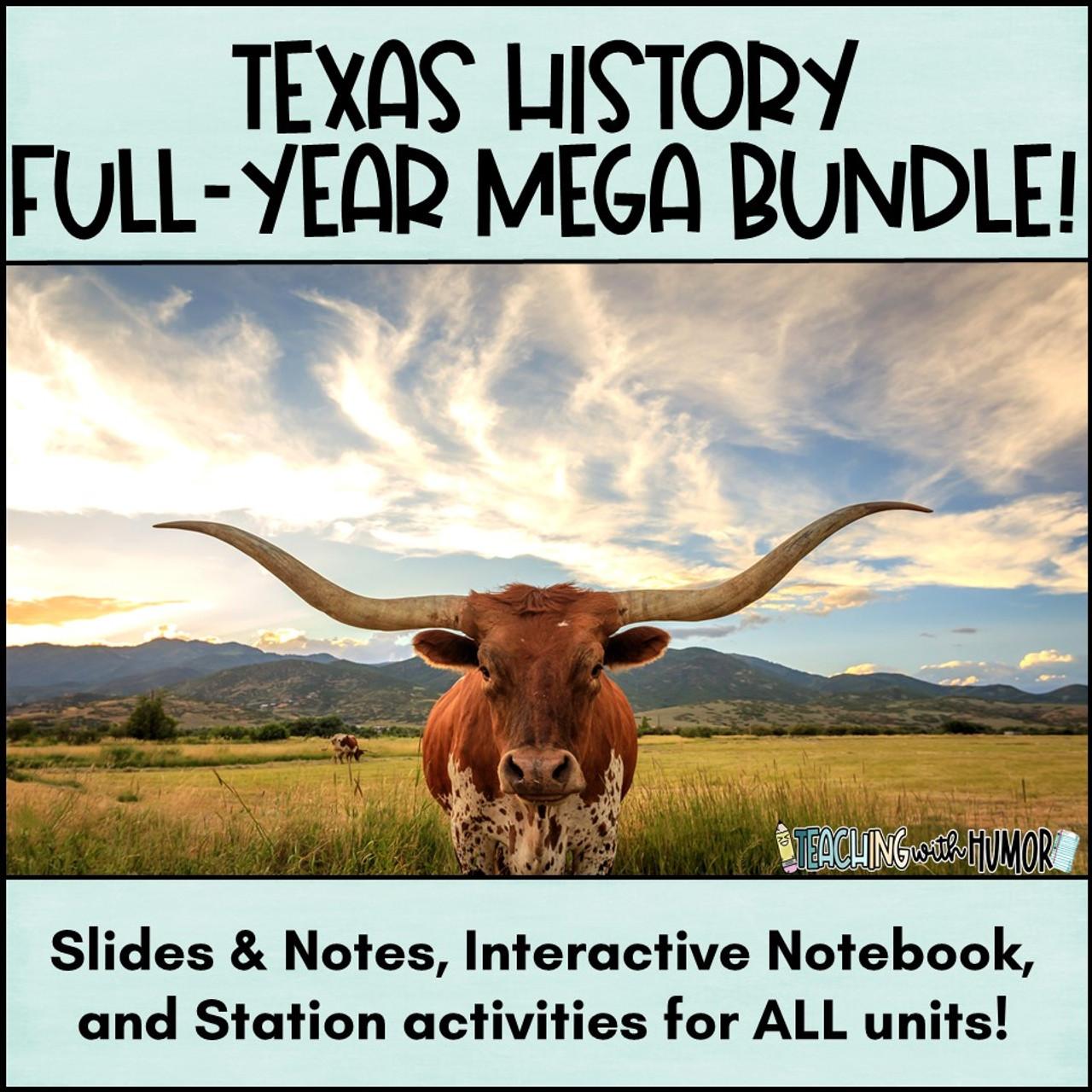 Texas History FULL YEAR - MEGA-BUNDLE