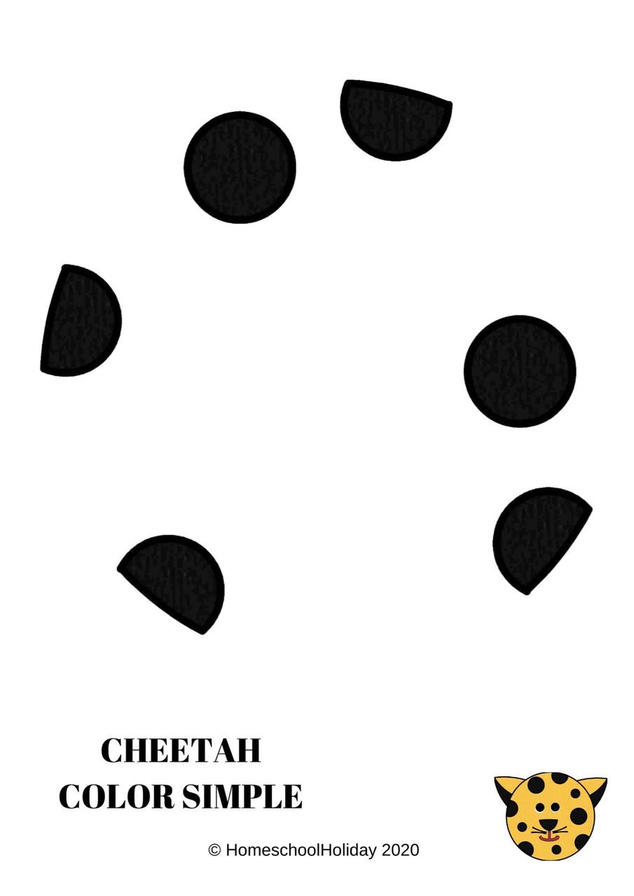 Cheetah Paper Plate Animal Craft Paper & DIGITAL version! - International Cheetah Day, December 4th