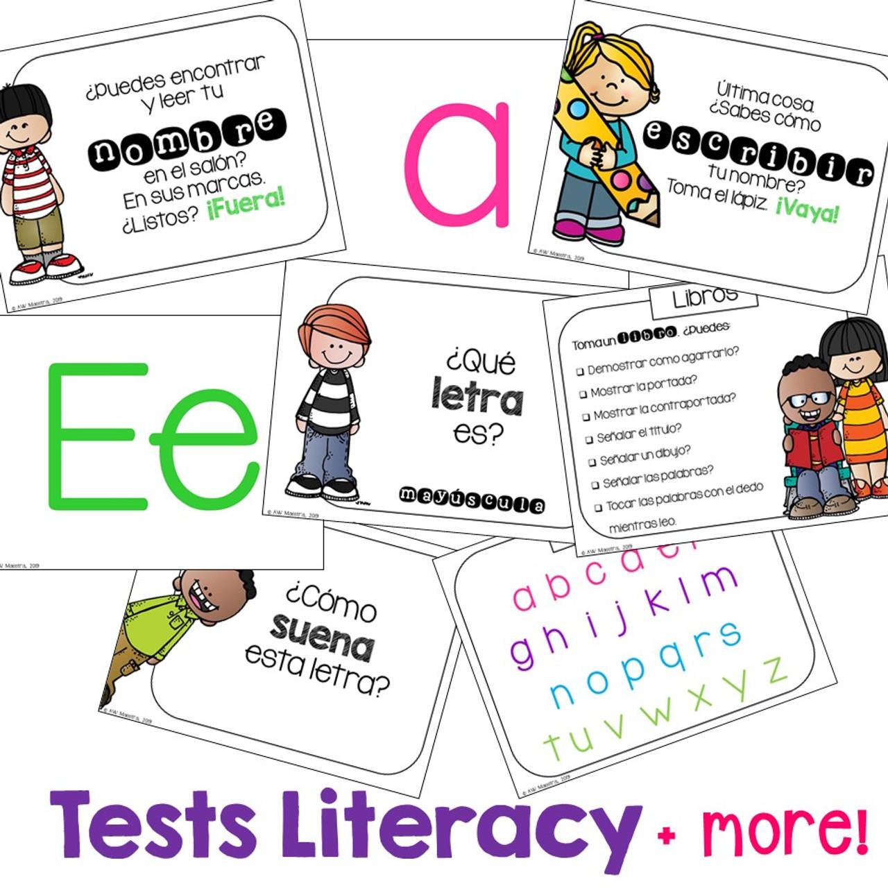 PreK Assessment SPANISH - Simple Digital Version - Examen Preescolar