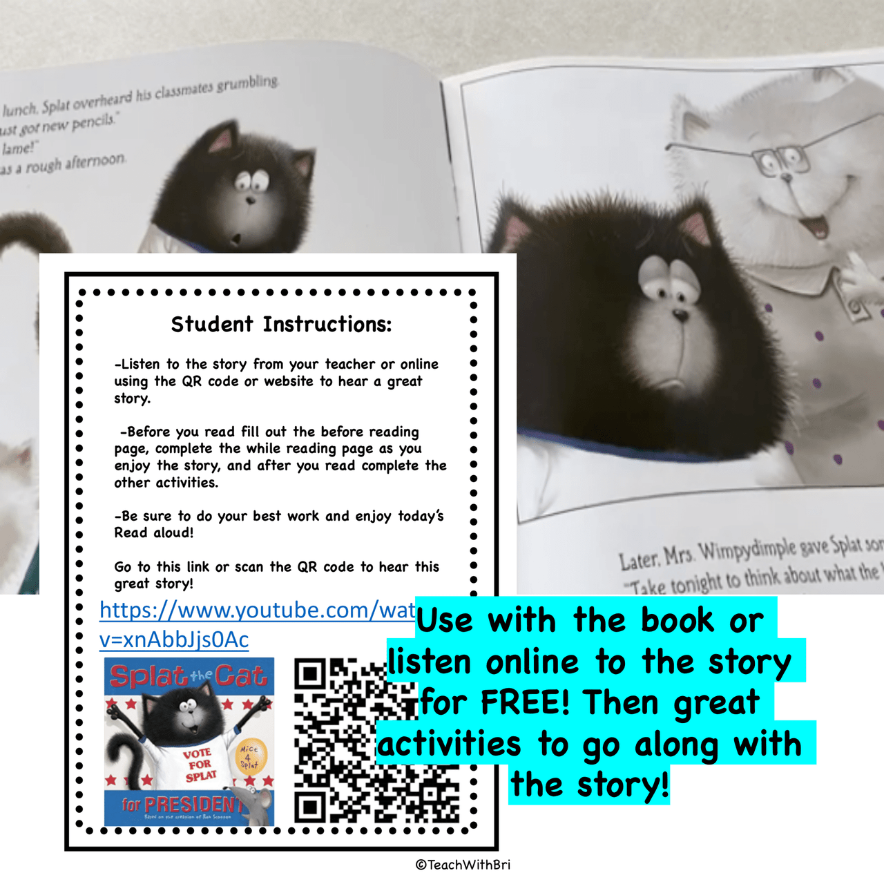 Google Version-  Splat the Cat for President- Virtual Read-A-Loud- Election Day  Stories