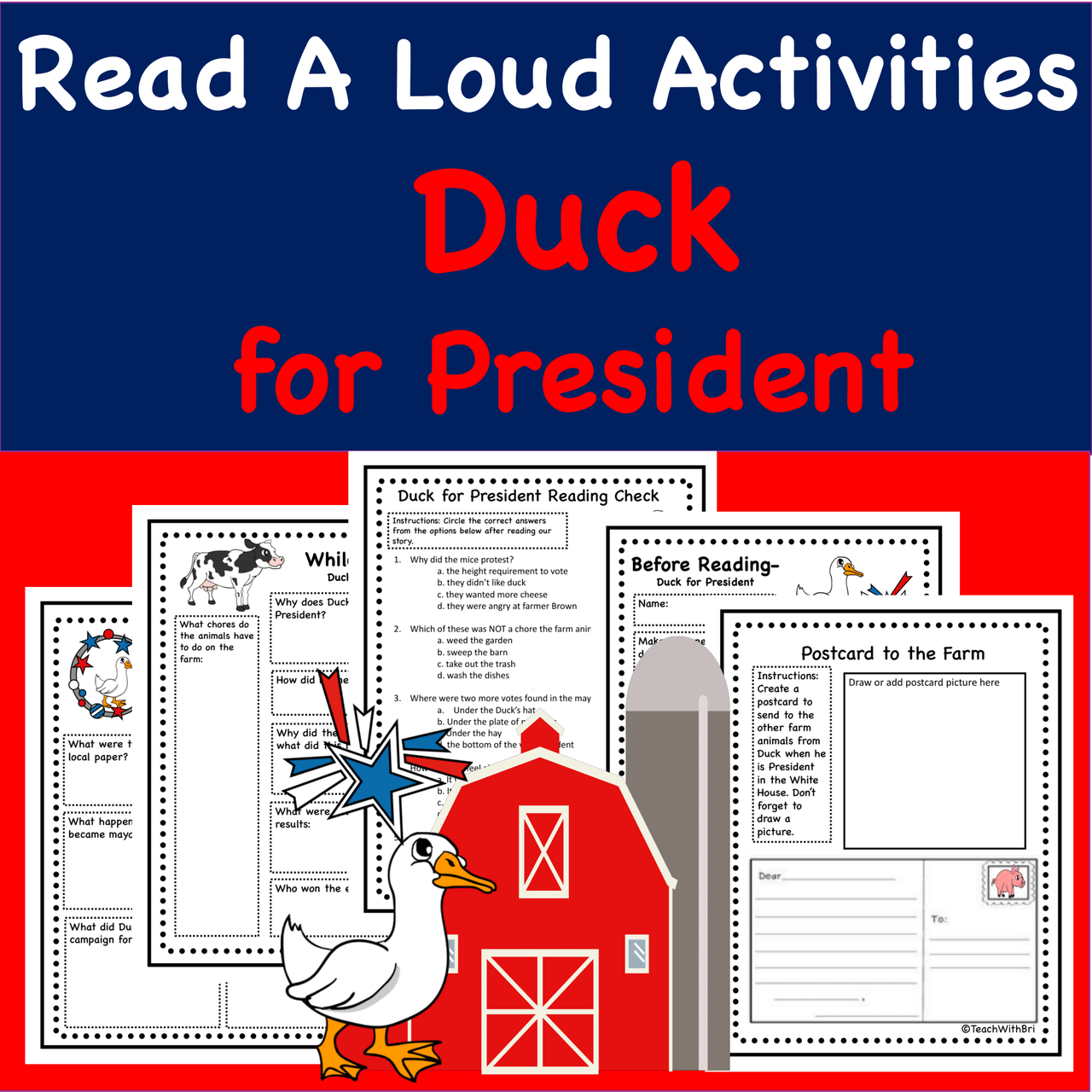 Duck for President- Virtual Read-A-Loud- Election Day Stories