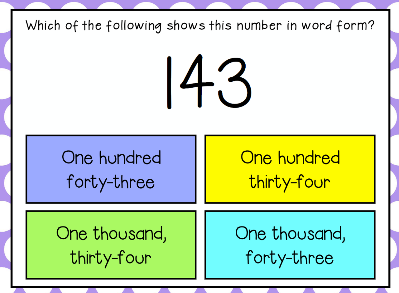 3rd Grade Number Forms to the Thousands Digital Boom Cards for Distance Learning
