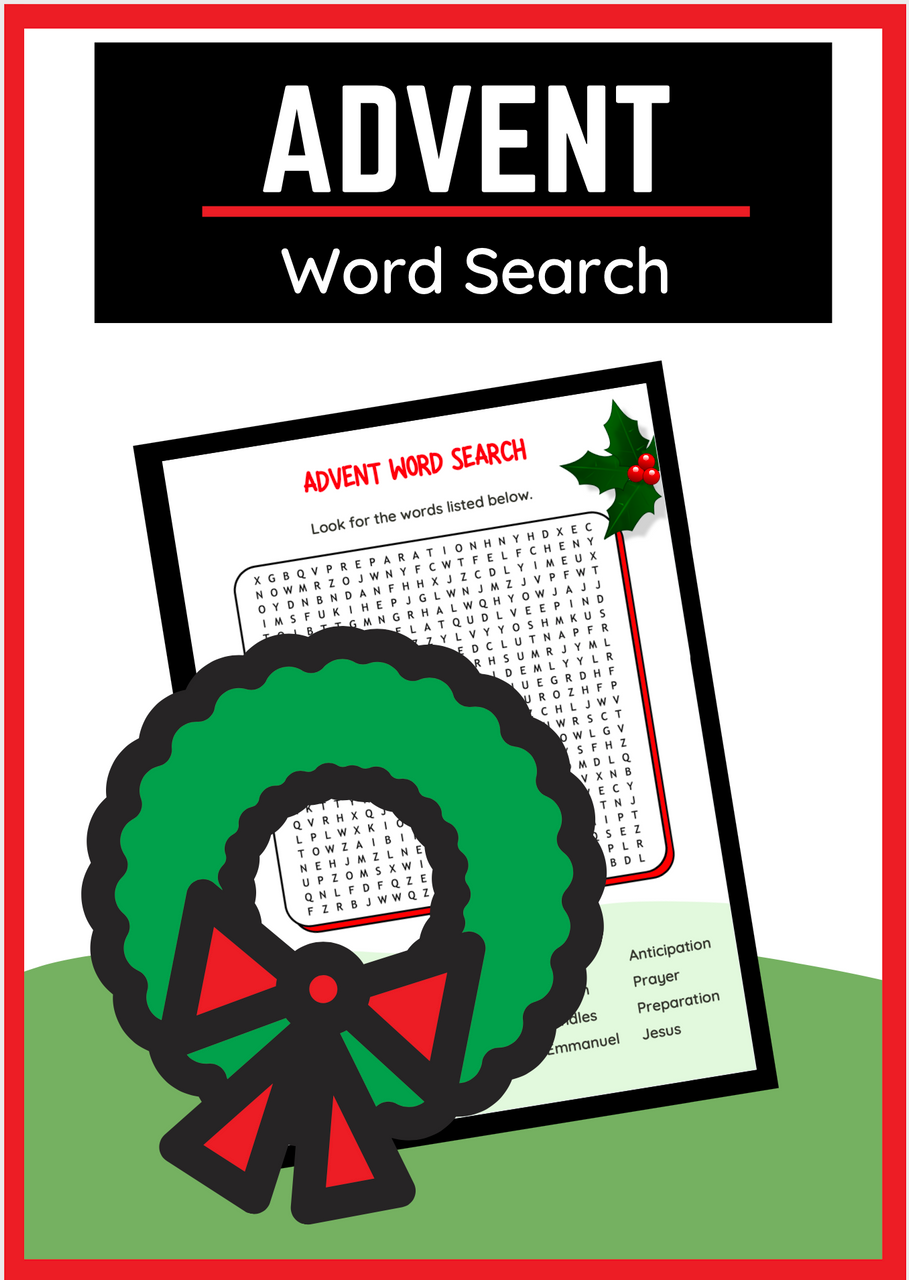 Advent Word Search for Christmas Time