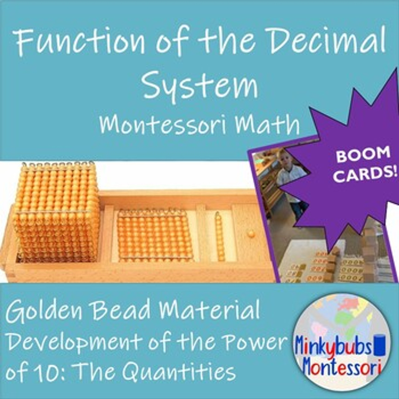 Montessori BOOM Power of 10 with Golden Beads Math Decimal System Distance Learning
