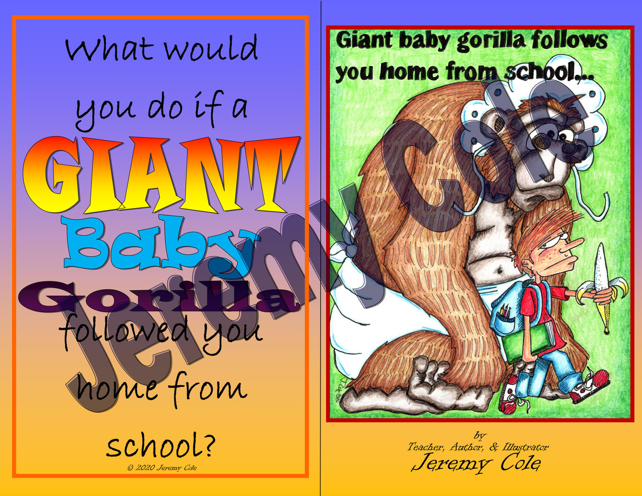 Writing Prompt - Giant Baby Gorilla Follows You Home from School
