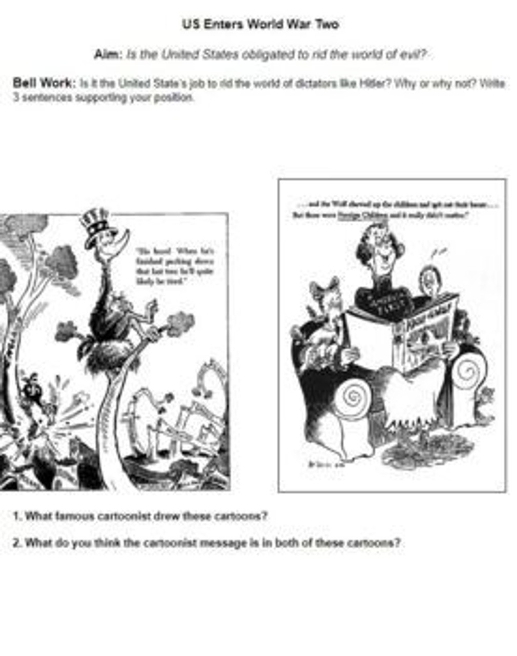 U.S. Enters World War 2: Distance Learning