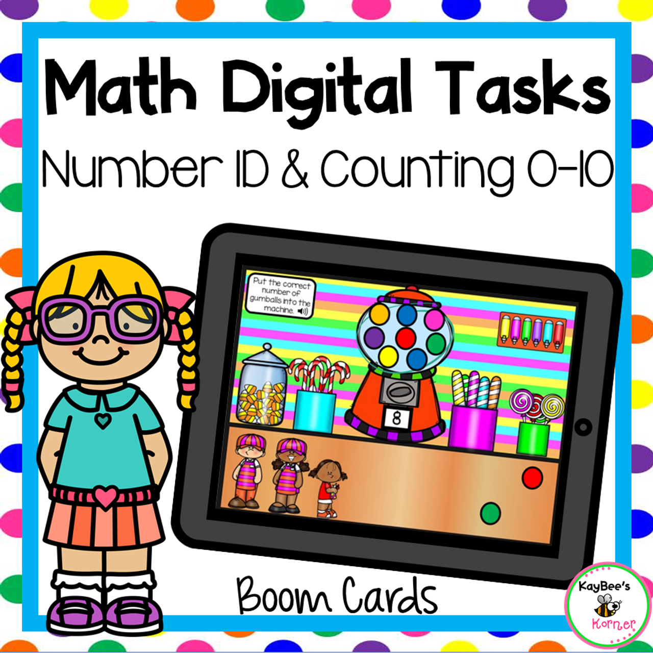 Number Recognition and Counting Objects Boom Cards