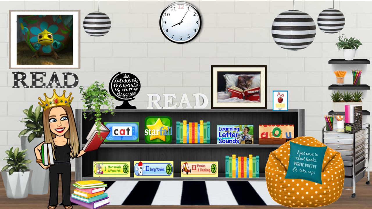 Bitmoji Classroom - Reading Intervention Template