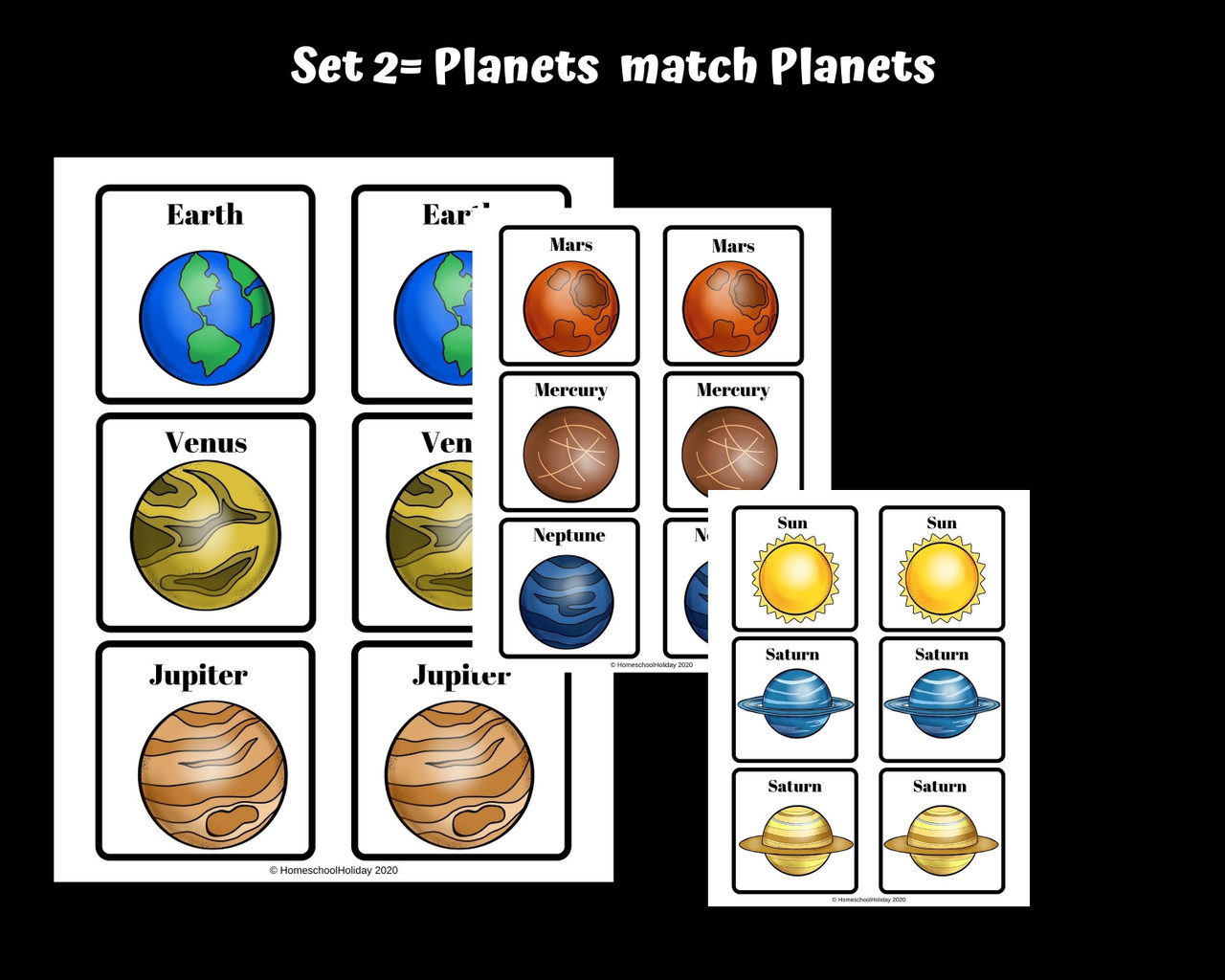Solar System Memory Games - Planets and the Phases of the Moon