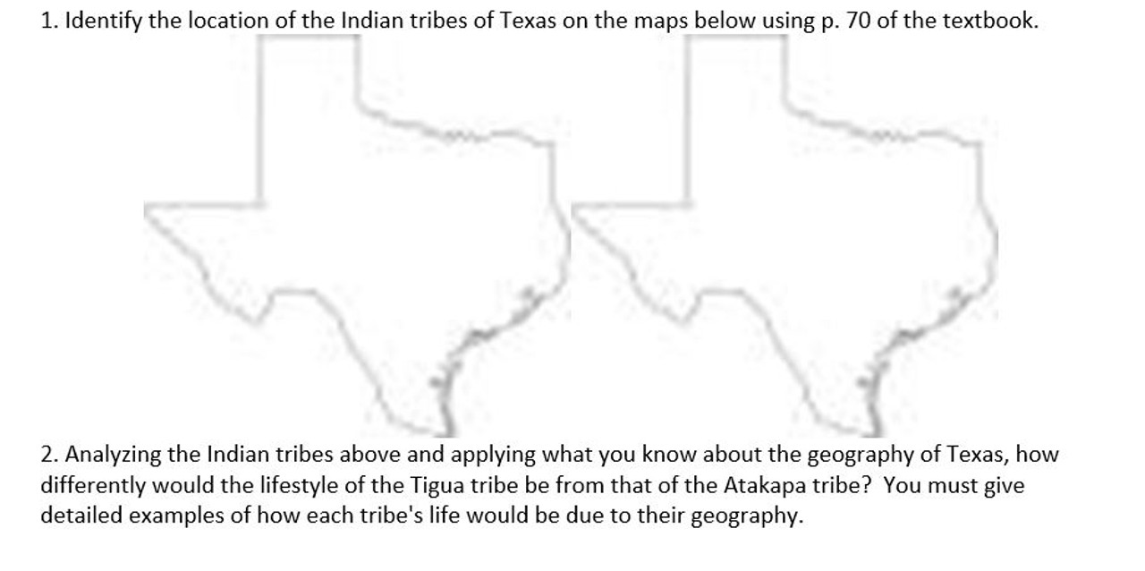 Compare and Contrast Native American Tribes in Texas FREE