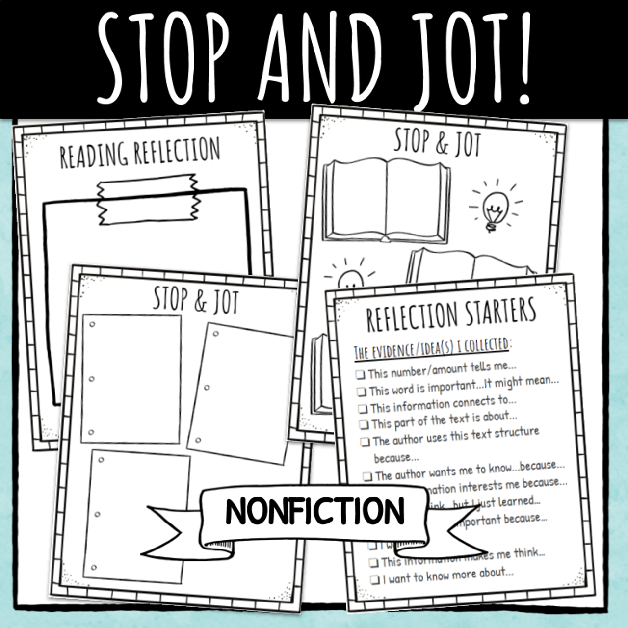 Stop and Jot Reflection Log / Journal (Nonfiction Text)