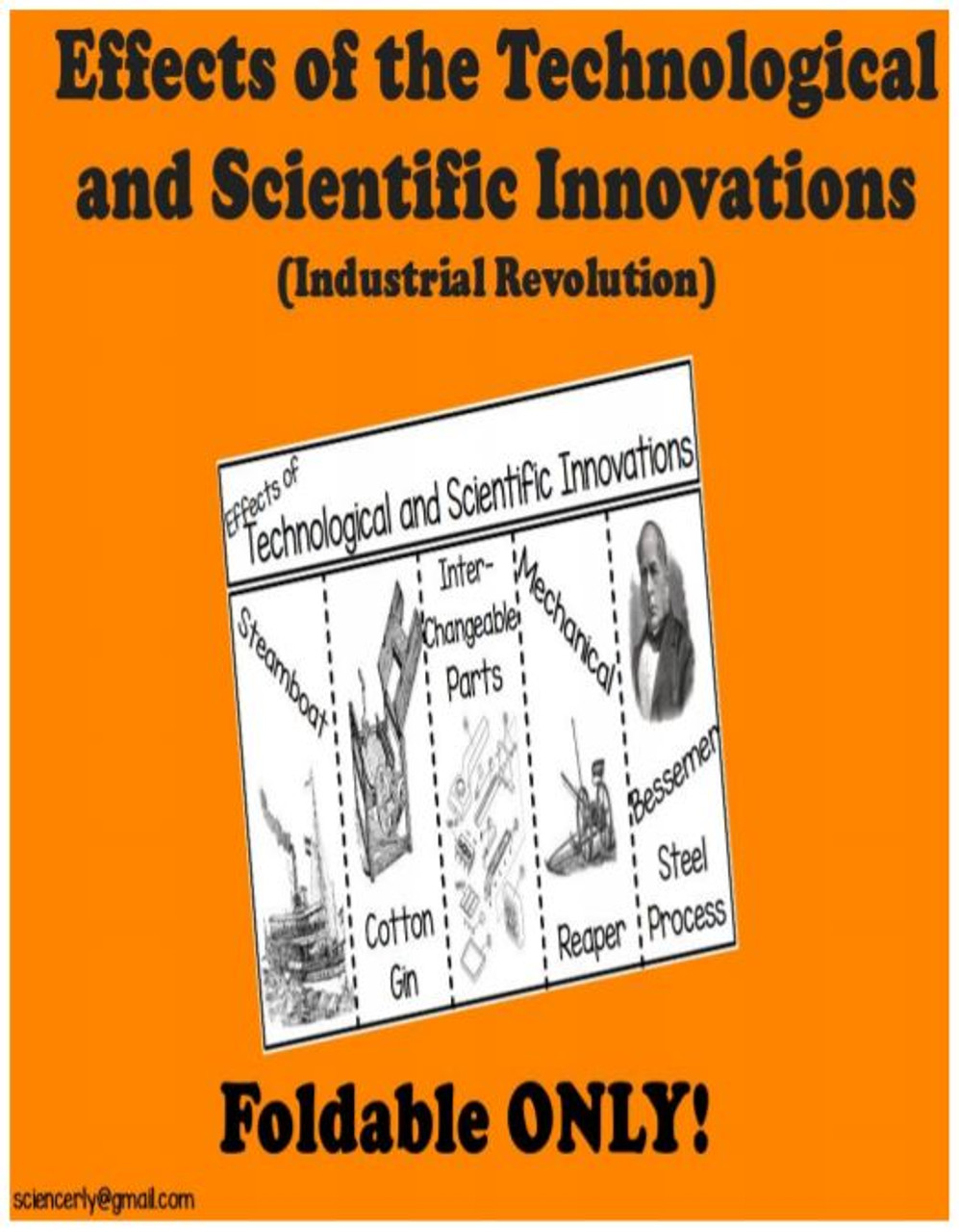 Effects of Technological and Scientific Innovations FOLDABLE Only