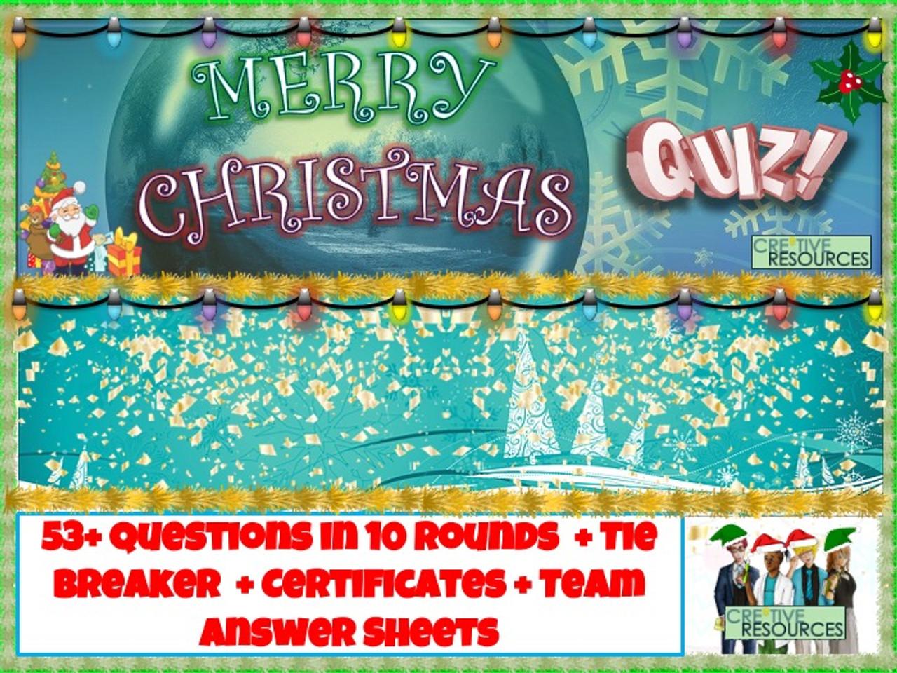 Christmas 2020 Quiz