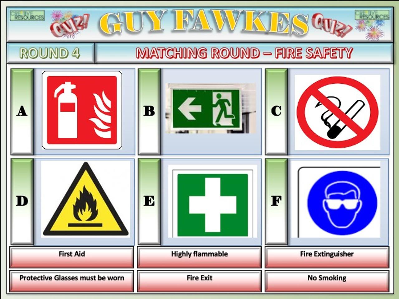 Guy Fawkes Night Fireworks Quiz