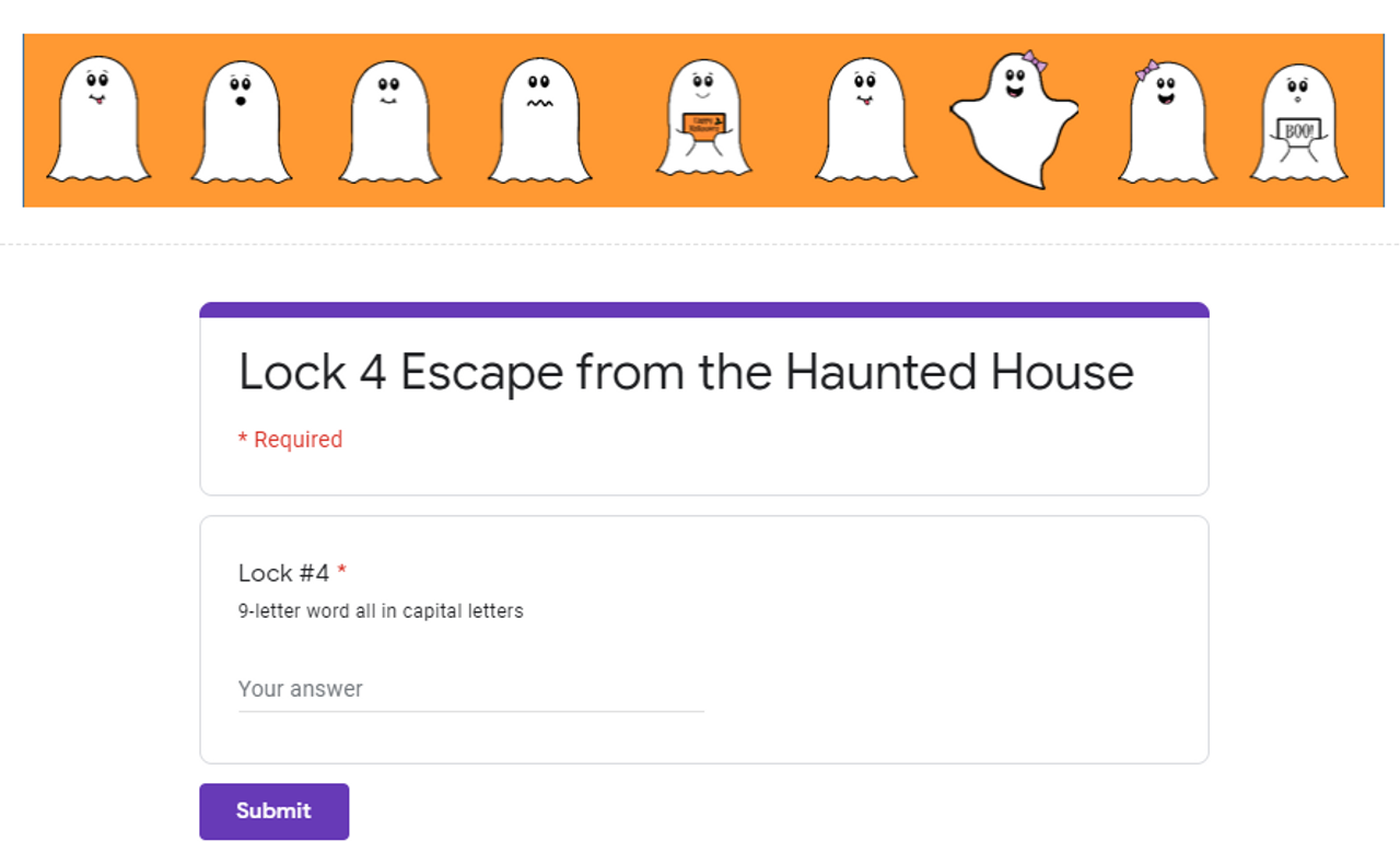 Escape from the Haunted House Halloween Digital Escape Room