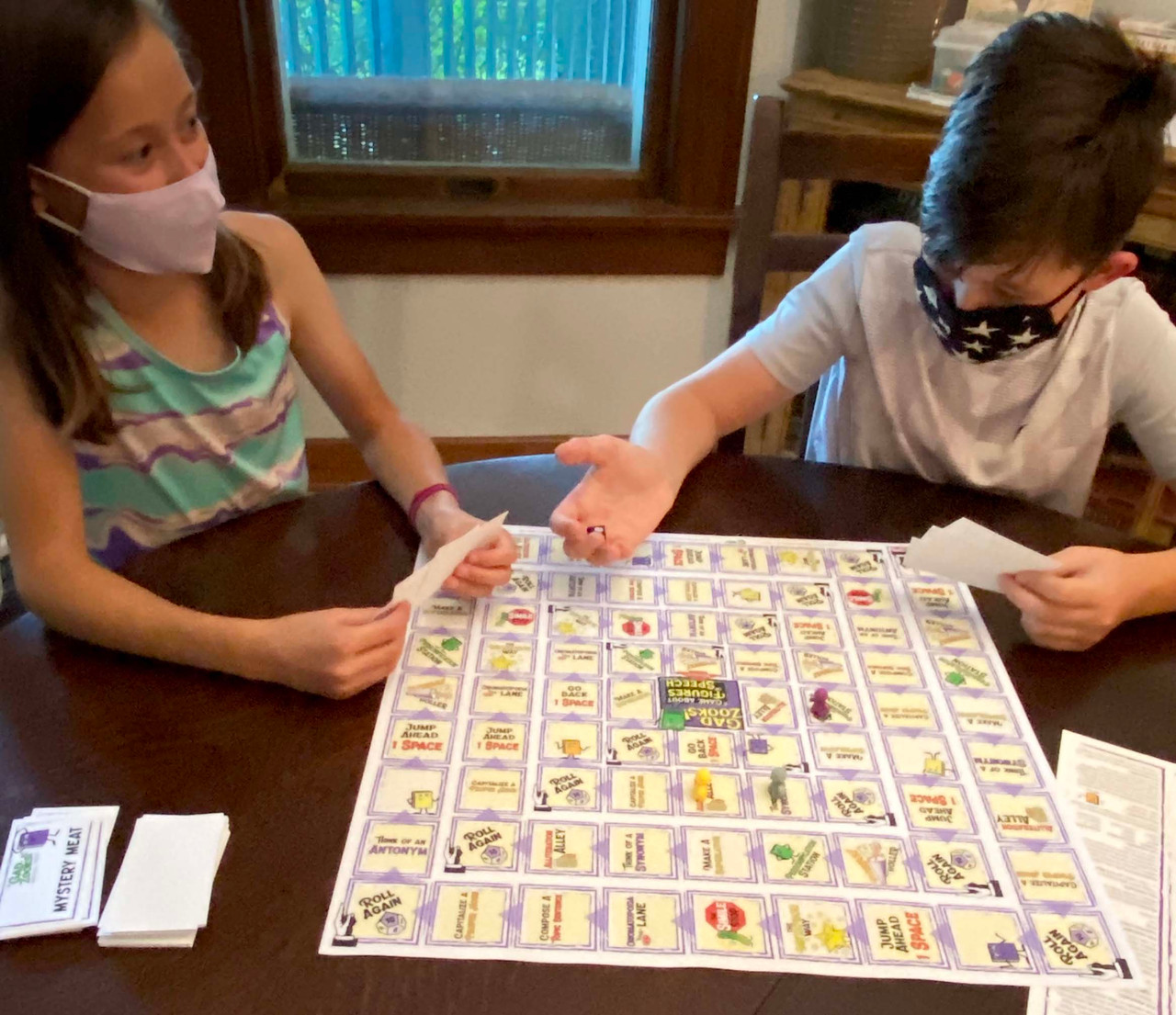 GadZooks! is a witty word game to play at home or in the classroom. It's a board/style game played similarly to Apples to Apples. Participants come up with an example of the literary device using a word(s) from the cards in their hand.