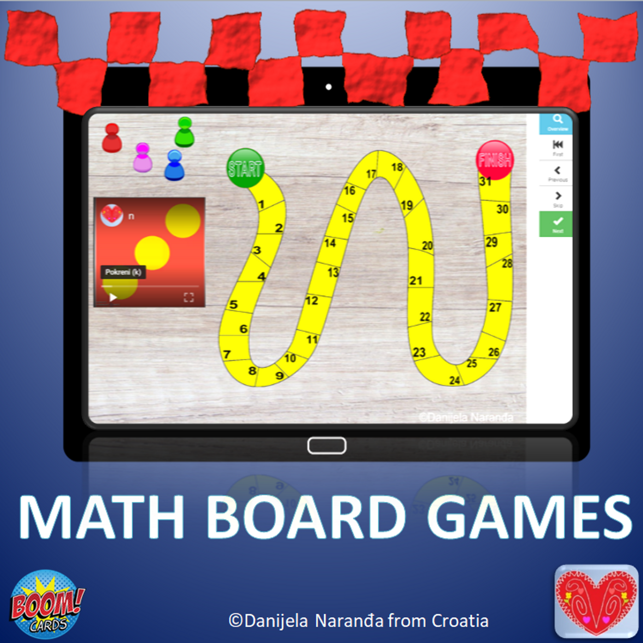 Board Games Counting Random Number Video Generator
