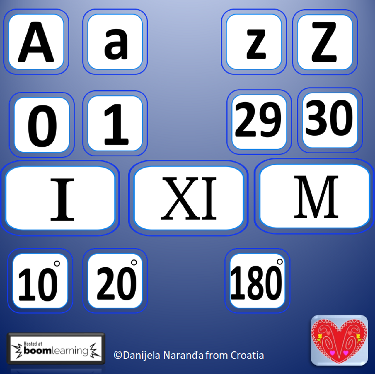 Letters, Numbers  Roman Numerals ClipArt